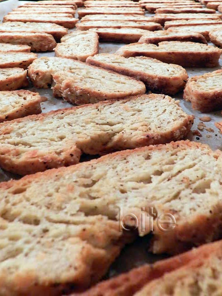 black pepper and parmesan cheese biscotti