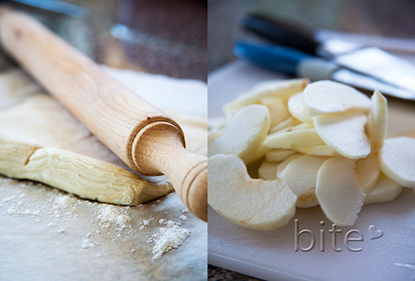 cortland apple puff pastry tart